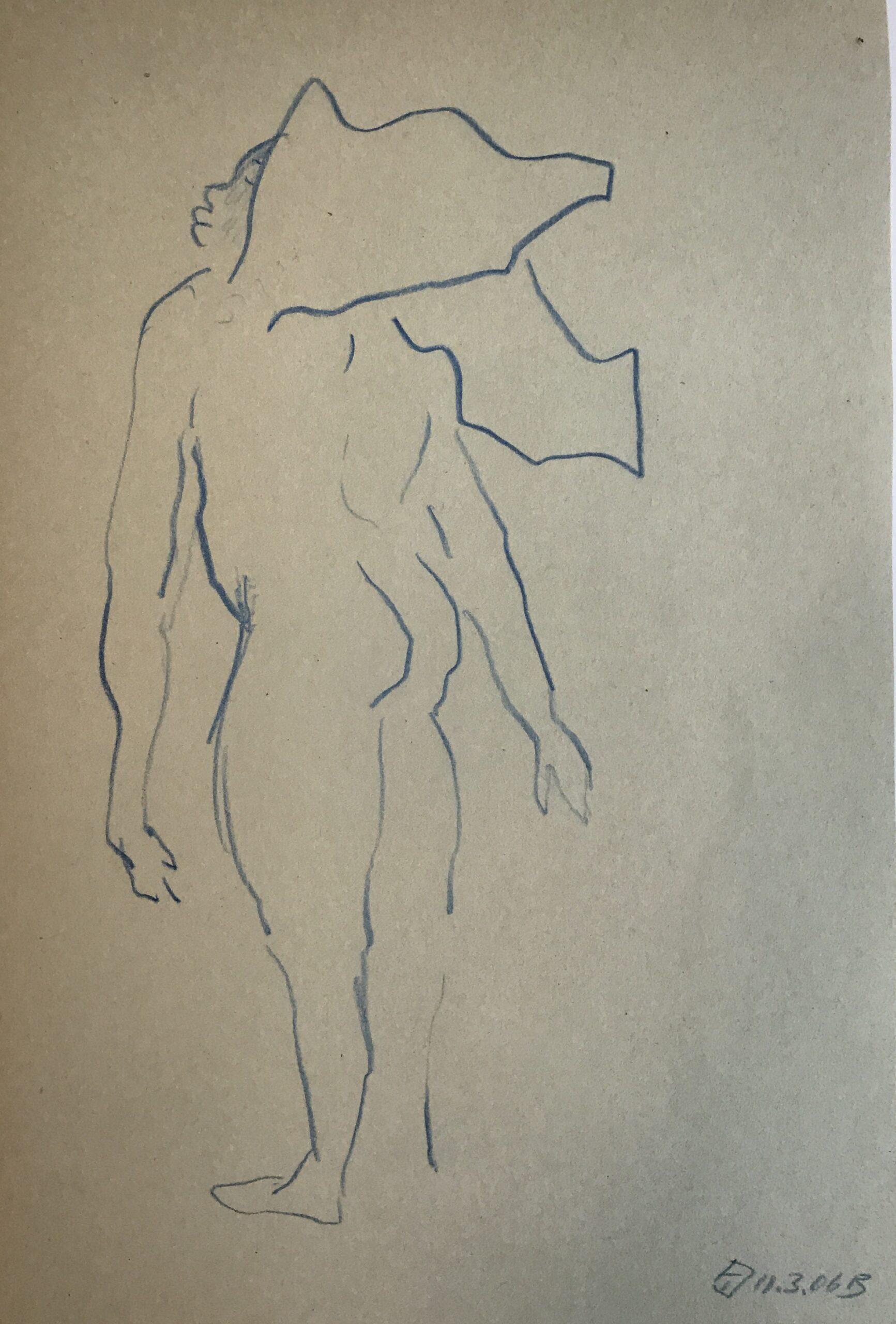 ENGEL, 30x21, Farbstift, 2006