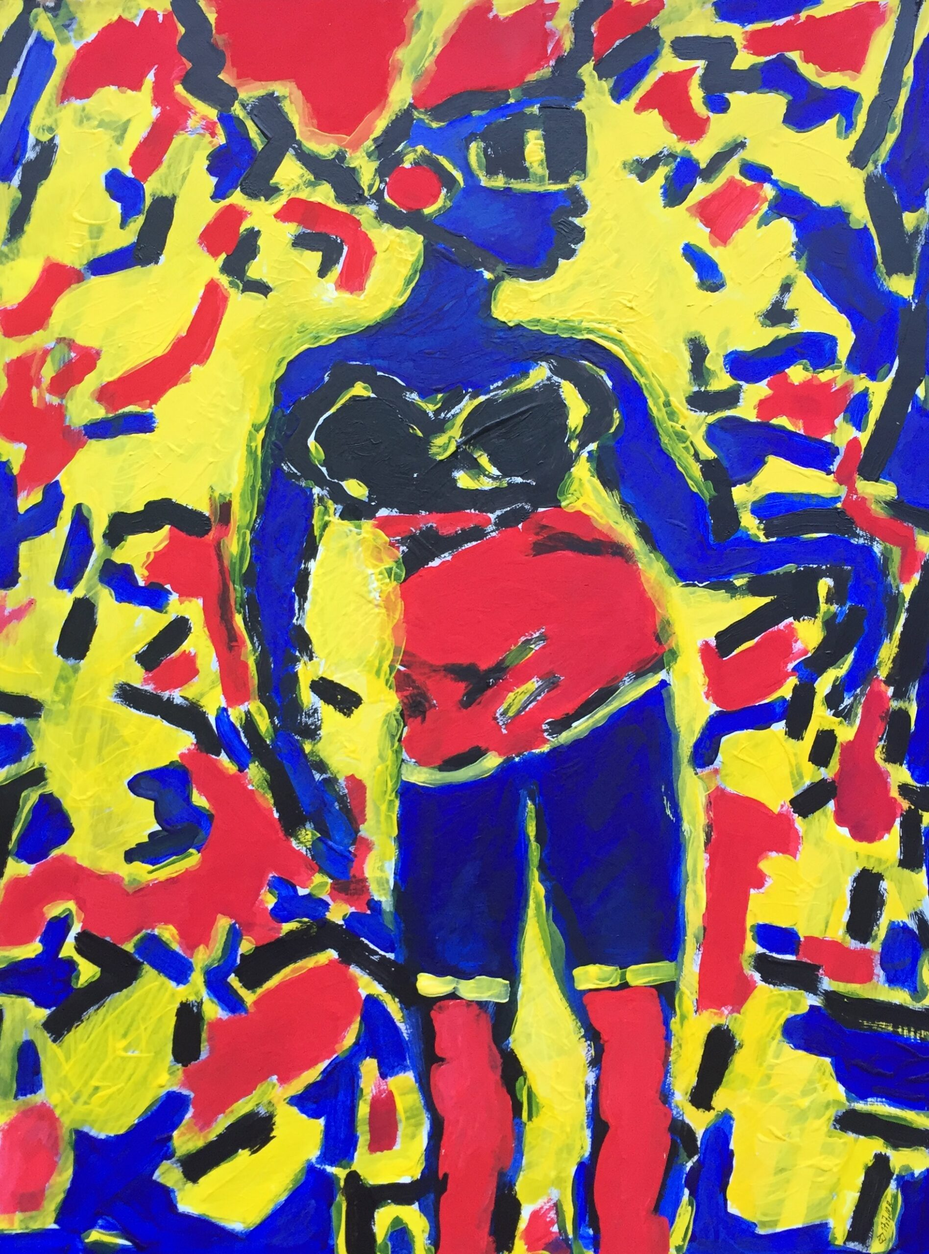 BLAUE FRAU, 60x80, Acryl auf Pappe, 2010