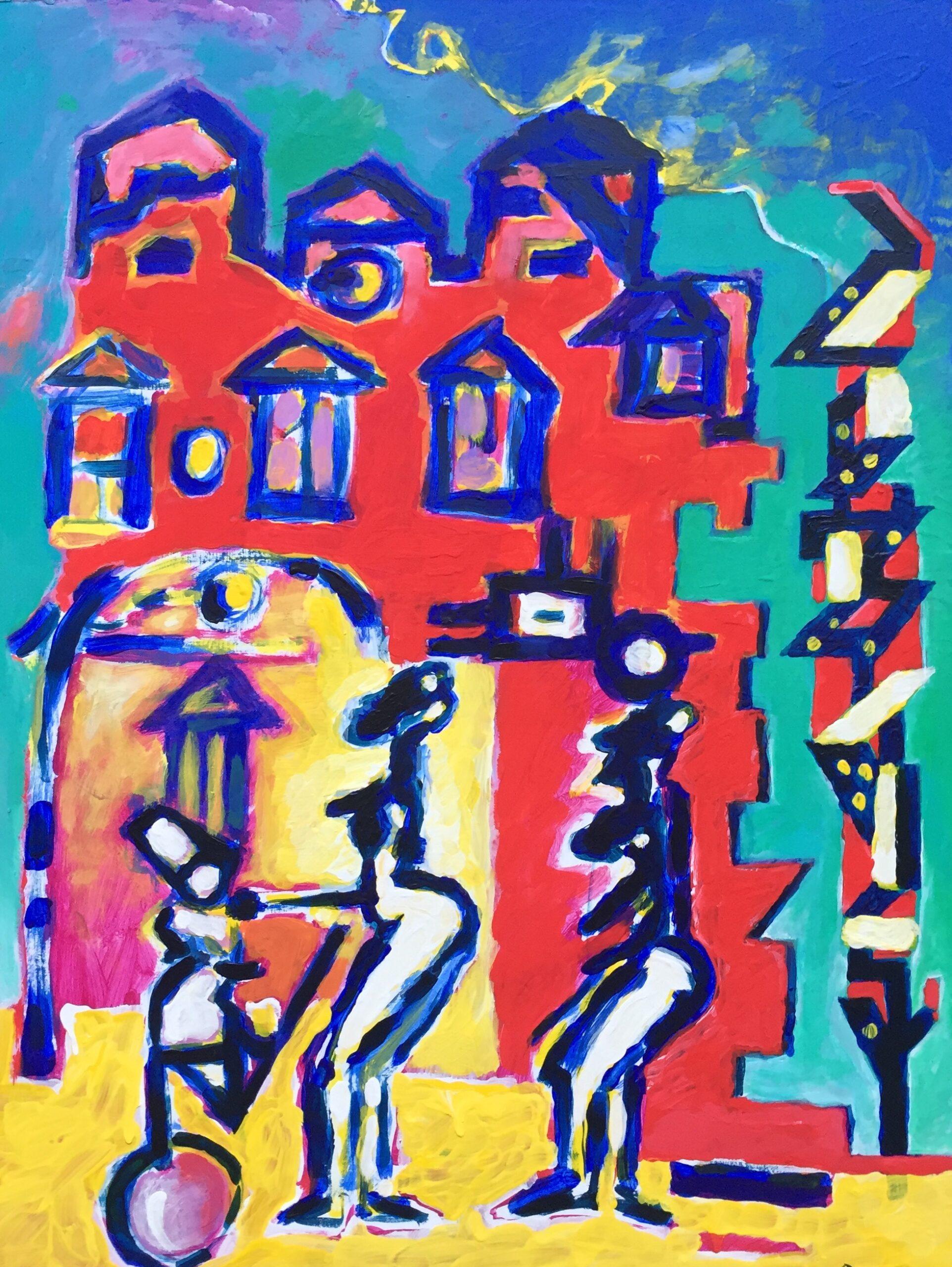 ROTES HAUS, 60x80, Acryl auf Pappe, 2010