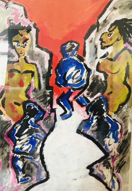 KAPUZENGASSE, 100x80, Acryl auf Papier, 2010