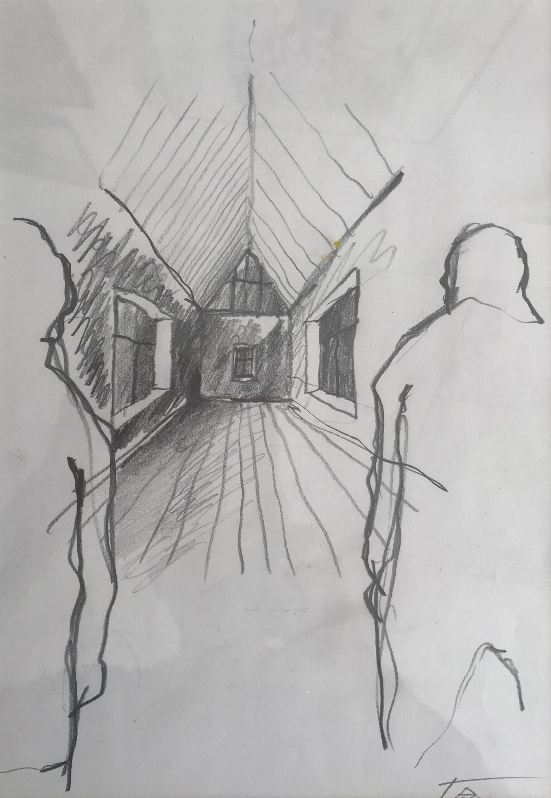 GETRENNT, 30x21, Bleistift, 1992