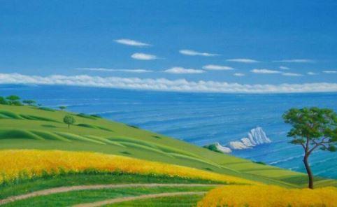 Blick aufs Meer 2, 50cm x 80cm, Fine-Art-Print auf Leinwand - 700 €