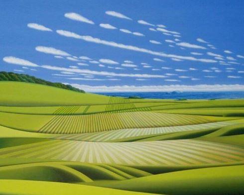 Blick aufs Meer 3, 80cm x 100cm, Fine-Art-Print auf Leinwand - 950 €
