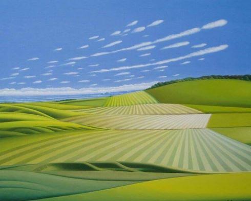 Blick aufs Meer 4, 80cm x 100cm, Fine-Art-Print auf Leinwand - 950 €