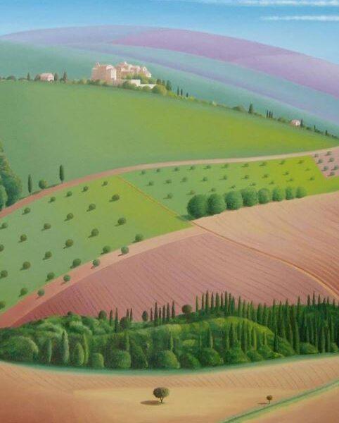 Campagna toscana, 100cm x 80cm, Fine-Art-Print auf Leinwand - 900 €