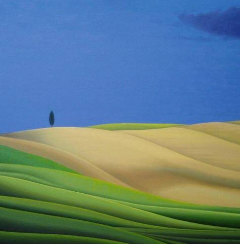 Zauber einer Landschaft, 100cm x 100cm, Fine-Art-Print auf Leinwand - 1100 €